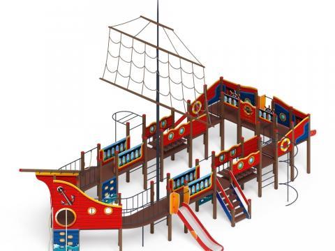 Детский игровой комплекс «Шхуна» ДИК 2.03.3.03-02 Н=1200 Н=1500