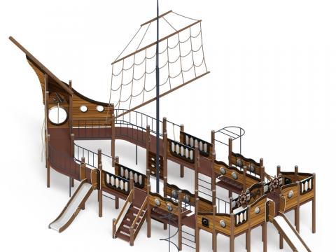Детский игровой комплекс «Шхуна» ДИК 2.03.3.03-03 Н=1200 Н=1500
