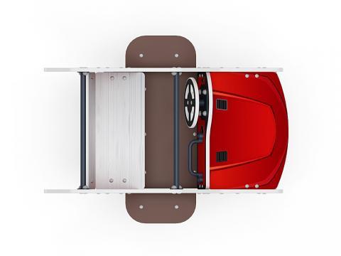 Качалка на пружине Машинка (средняя) ИО 23.03.01-03