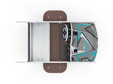 Качалка на пружине Машинка (средняя) ИО 23.03.01-04
