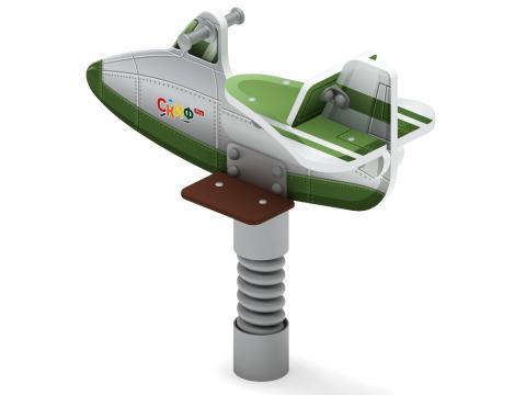 Качалка на пружине  Самолетик (зеленый) ИО 22.03.02-01