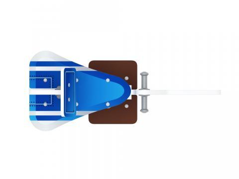Качалка на пружине  Самолетик (синий) ИО 22.03.02-02