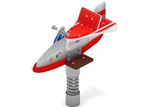 Качалка на пружине  Самолетик (красный) ИО 22.03.02-03