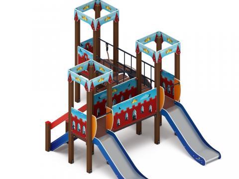 Детский игровой комплекс «Королевство» (Красное) ДИК 1.15.03-03