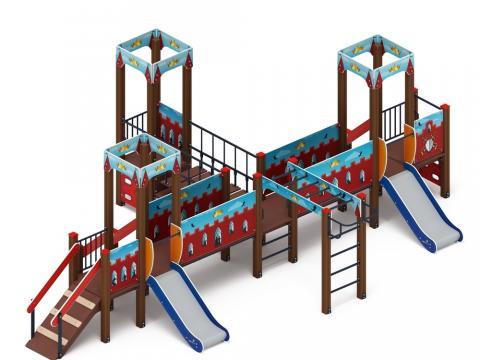 Детский игровой комплекс «Королевство» (Красное) ДИК 1.15.05-03
