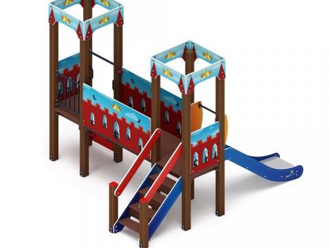 Детский игровой комплекс «Королевство» (Красное) ДИК 1.15.06-03