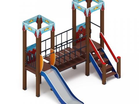 Детский игровой комплекс «Королевство» (Красное) ДИК 1.15.07-03