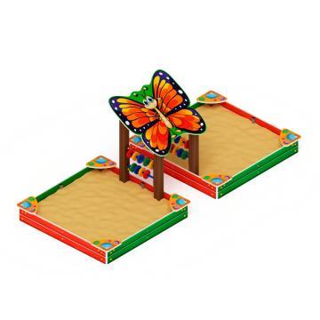 Песочница двойная Бабочка ИО 5.01.07-01