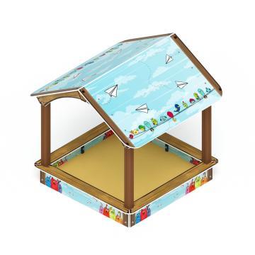 Песочный дворик домик ИО 6.01.02-02