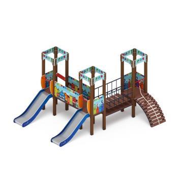 Детский игровой комплекс «Королевство» (Коты) ДИК 1.15.03-01 H=900
