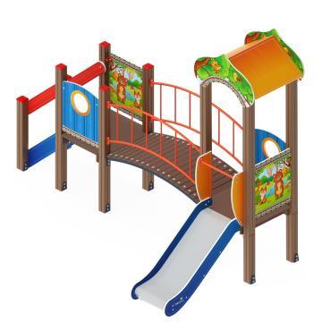 Детский игровой комплекс «Полянка» ДИК 1.16.03 H=750