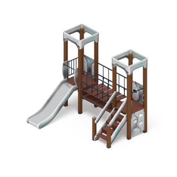 Детский игровой комплекс «Королевство» (Техно) ДИК 1.15.07-02 H=900