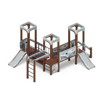 Детский игровой комплекс «Королевство» (Техно)  ДИК 1.15.08-02 H=750