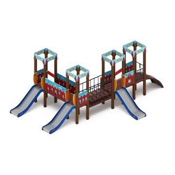 Детский игровой комплекс «Королевство» (Красное) ДИК 1.15.04-03