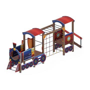 Детский игровой комплекс «Паровозик» ДИК 1.03.5.03-01 H=750