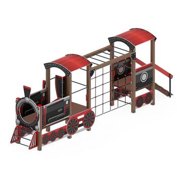 Детский игровой комплекс «Паровозик (Черный)» ДИК 1.03.5.03-02 H=750